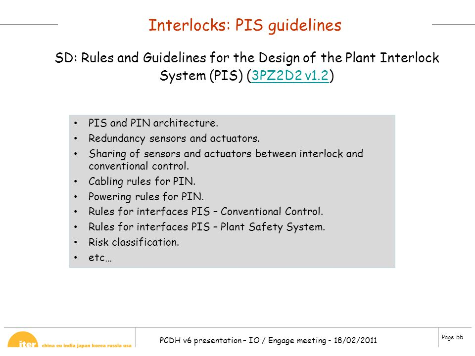 Interlocks: PIS guidelines