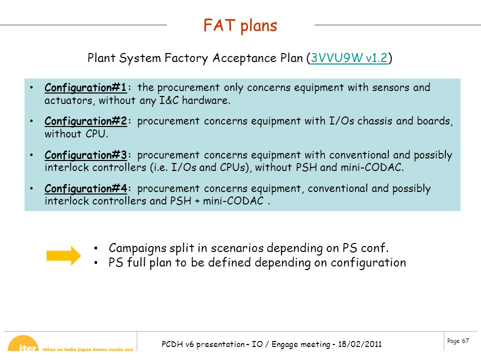 FAT plans Plant System Factory Acceptance Plan (3VVU9W v1.2)