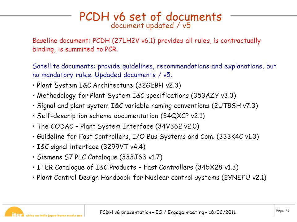 PCDH v6 set of documents document updated / v5