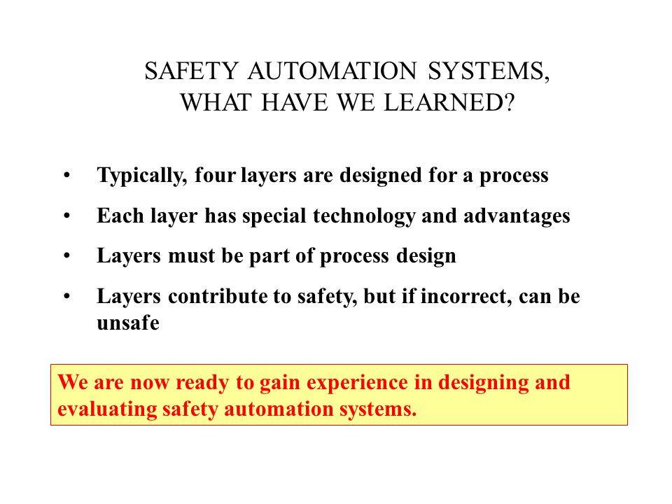 SAFETY AUTOMATION SYSTEMS,