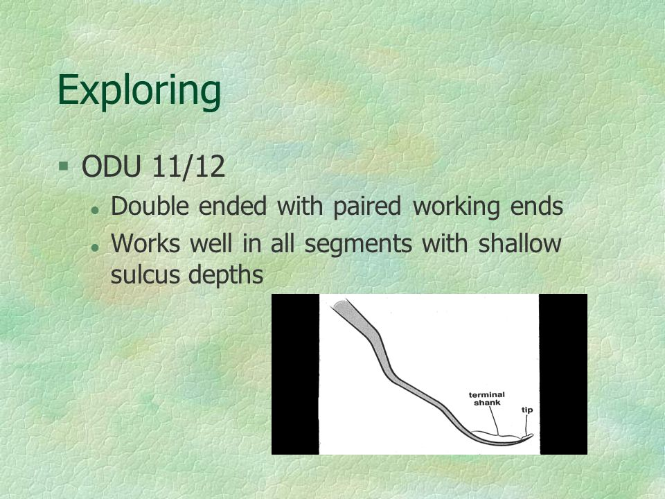 Exploring ODU 11/12 Double ended with paired working ends
