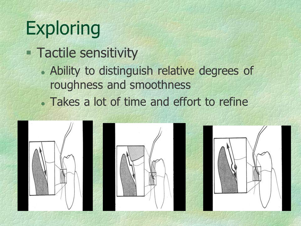 Exploring Tactile sensitivity