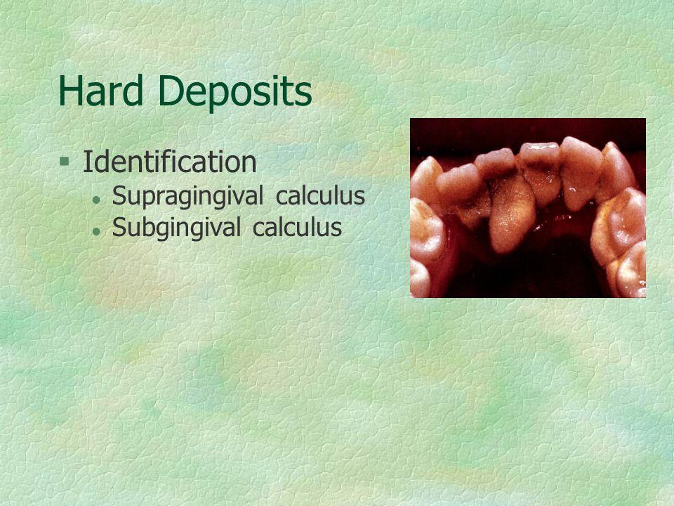 Hard Deposits Identification Supragingival calculus