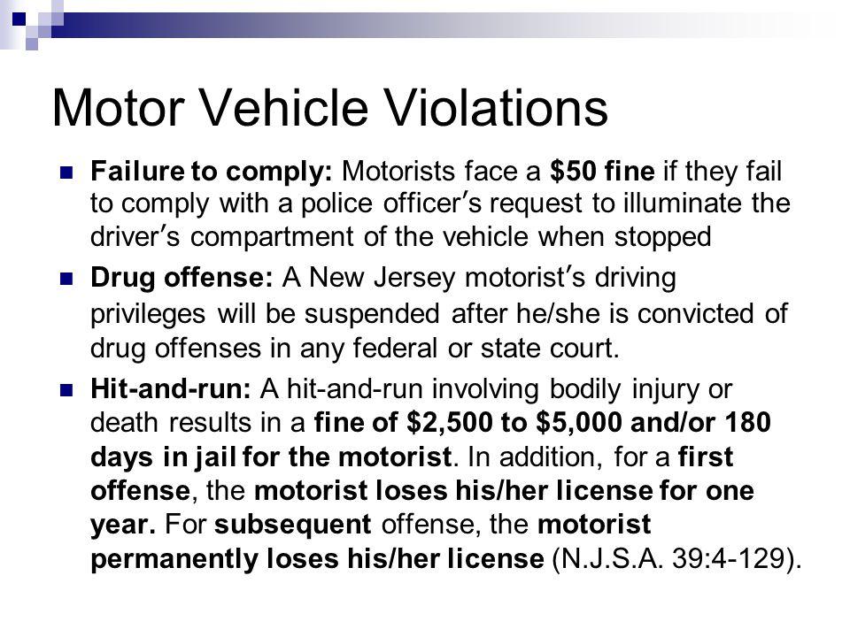 Motor Vehicle Violations