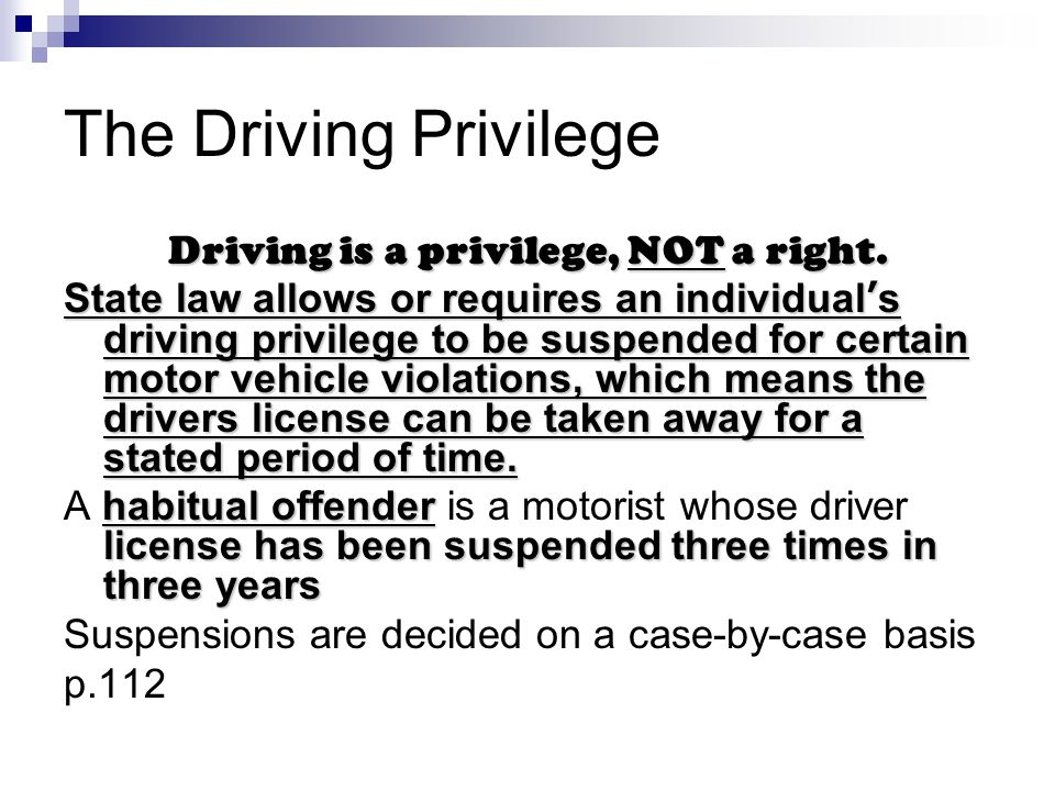 Is driving privilege or right