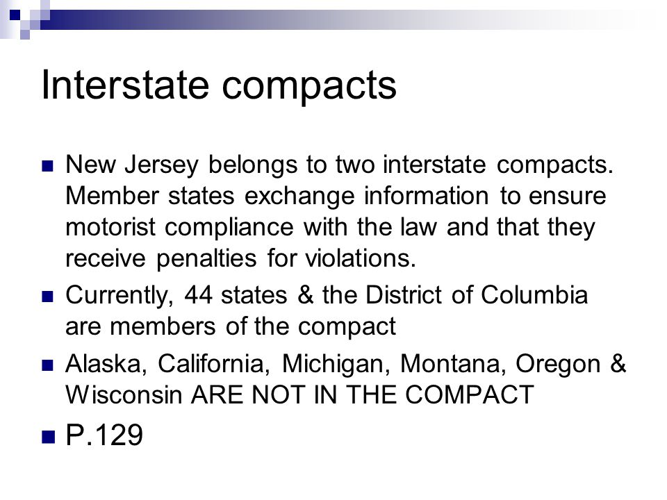 Interstate compacts