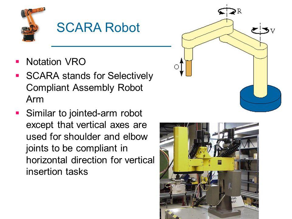 SCARA Robot Notation VRO
