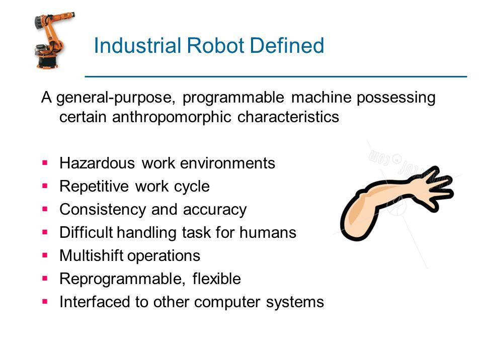 Industrial Robot Defined