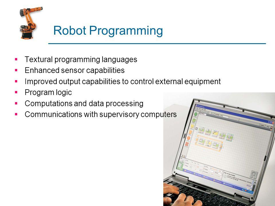 Robot Programming Textural programming languages