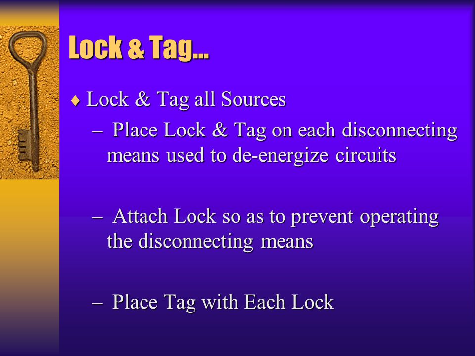 Lock & Tag… Lock & Tag all Sources