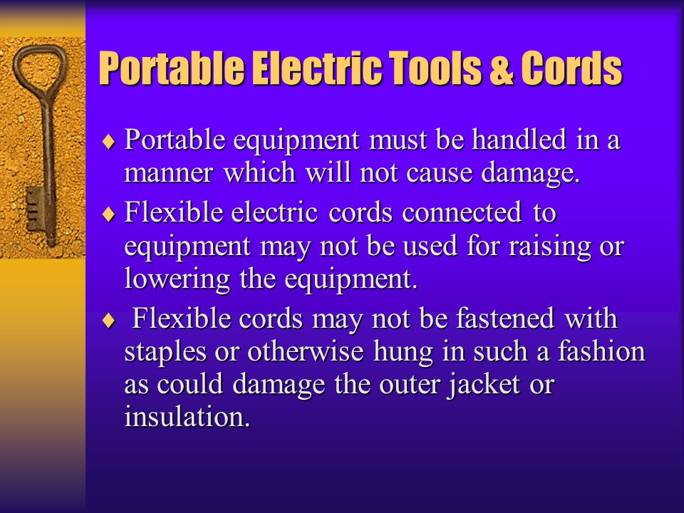 Portable Electric Tools & Cords