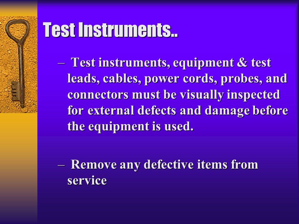 Test Instruments..