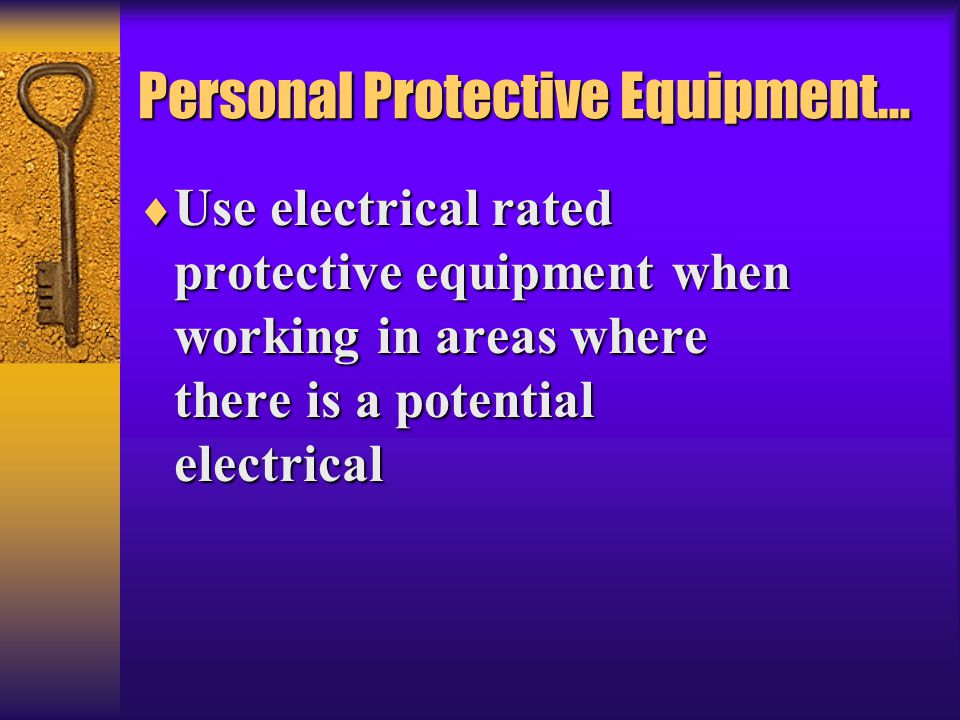Personal Protective Equipment…