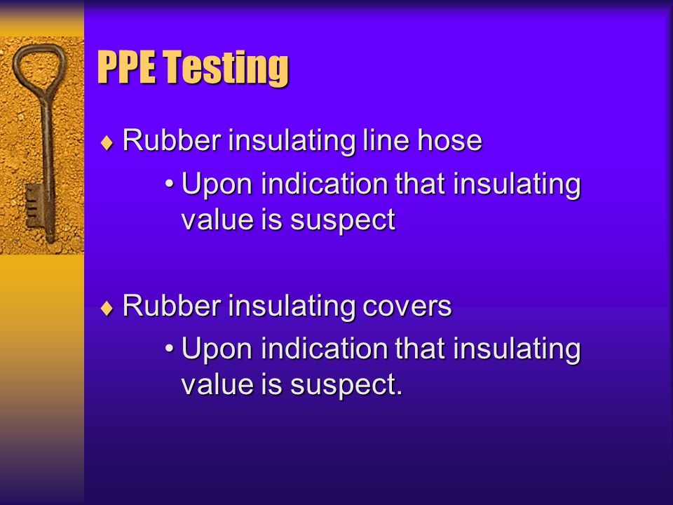 PPE Testing Rubber insulating line hose
