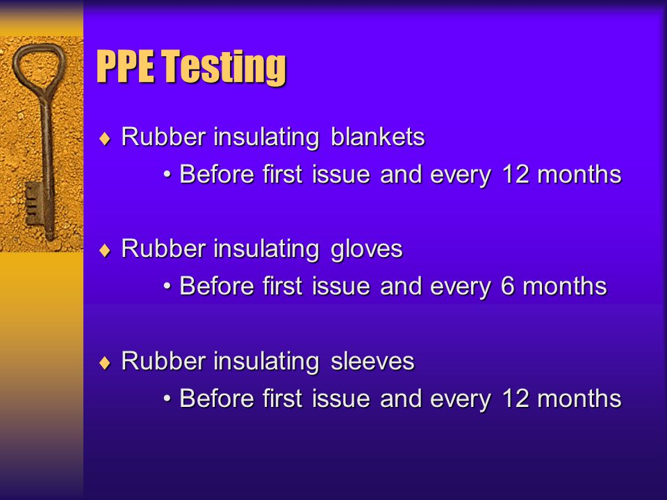 PPE Testing Rubber insulating blankets
