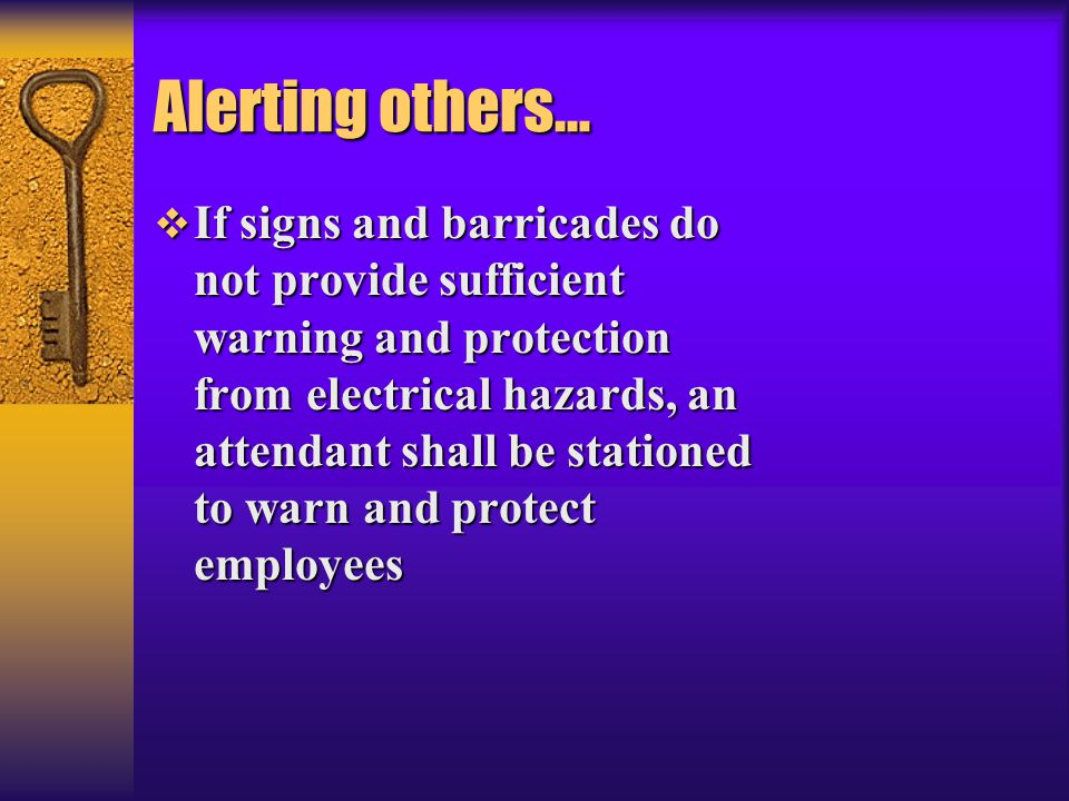 Alerting others…