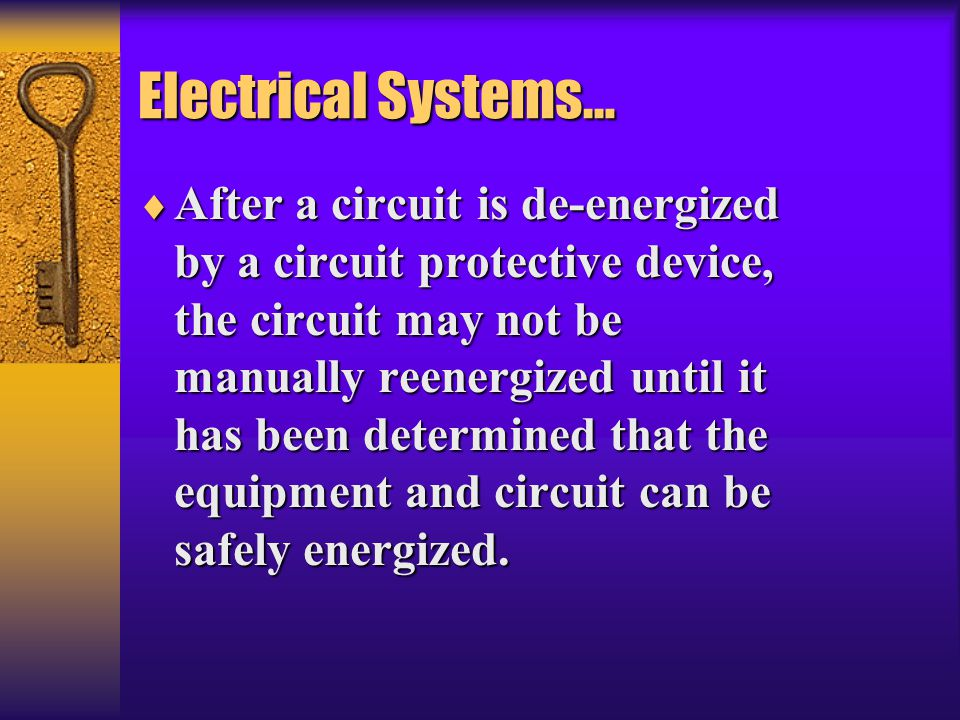 Electrical Systems…
