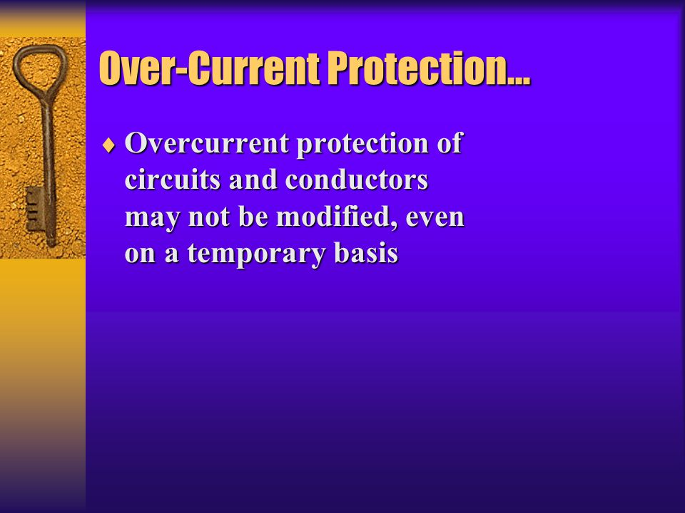 Over-Current Protection…