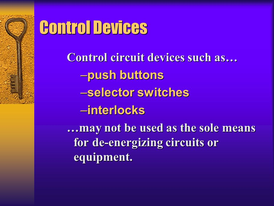 Control Devices Control circuit devices such as… push buttons