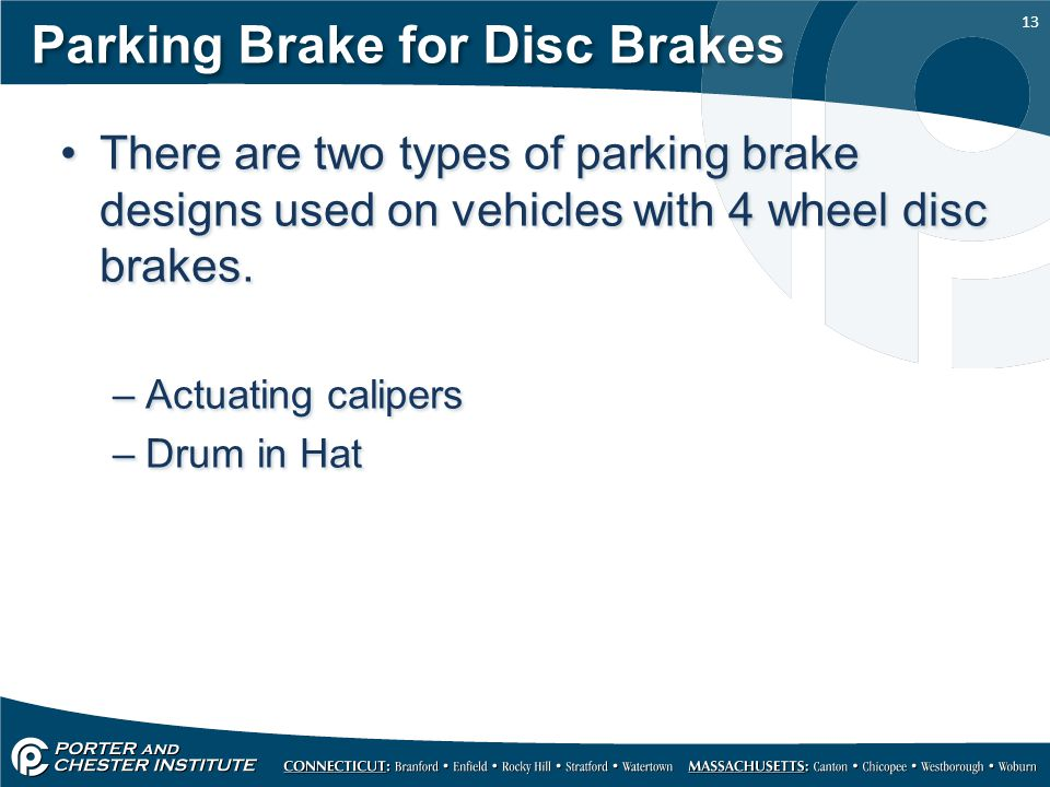 Parking Brake for Disc Brakes