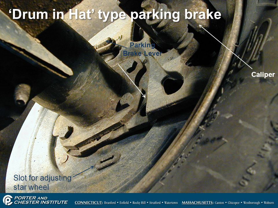 'Drum in Hat' type parking brake