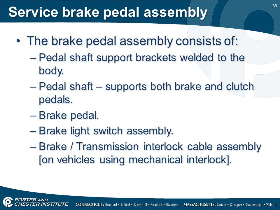 Service brake pedal assembly