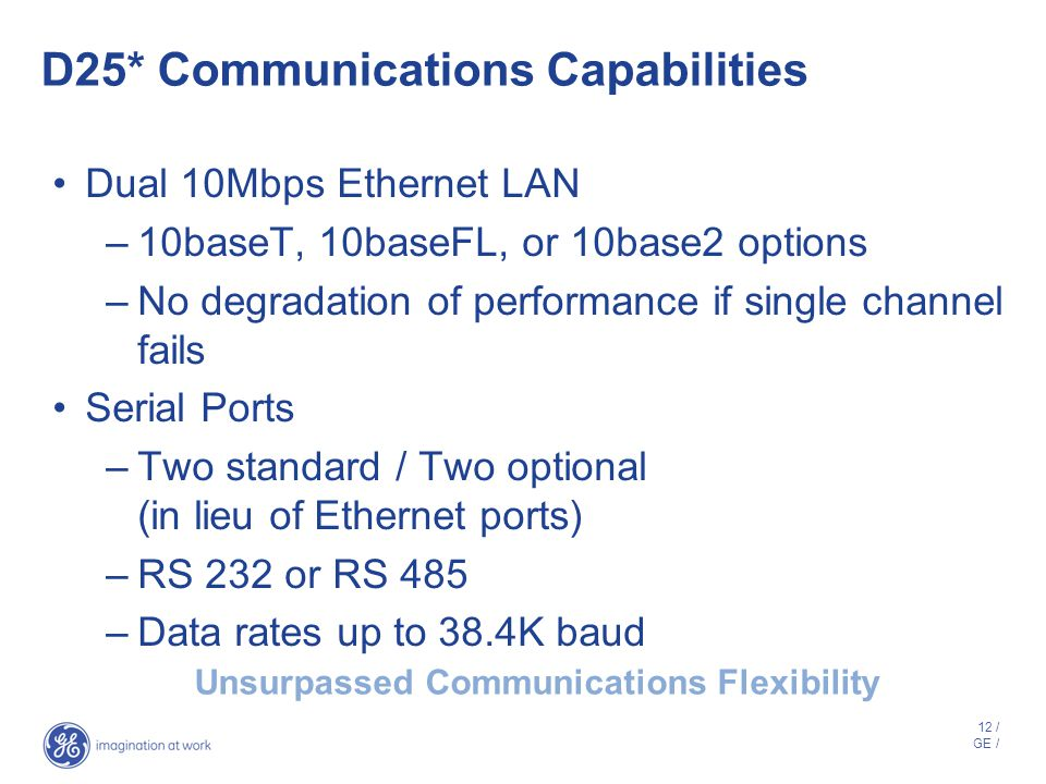 D25* Communications Capabilities