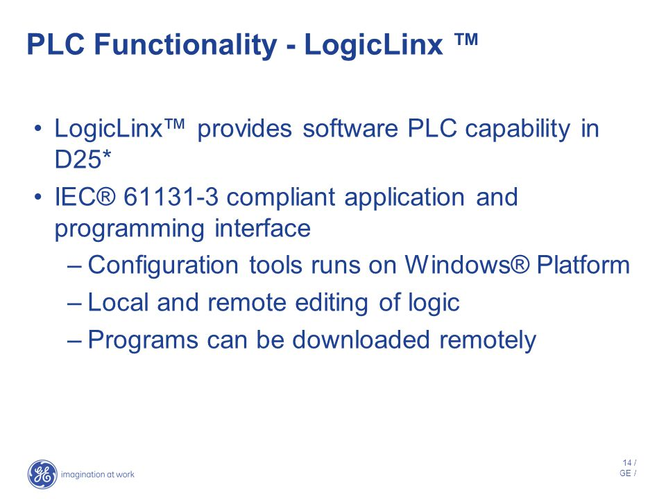 PLC Functionality - LogicLinx ™