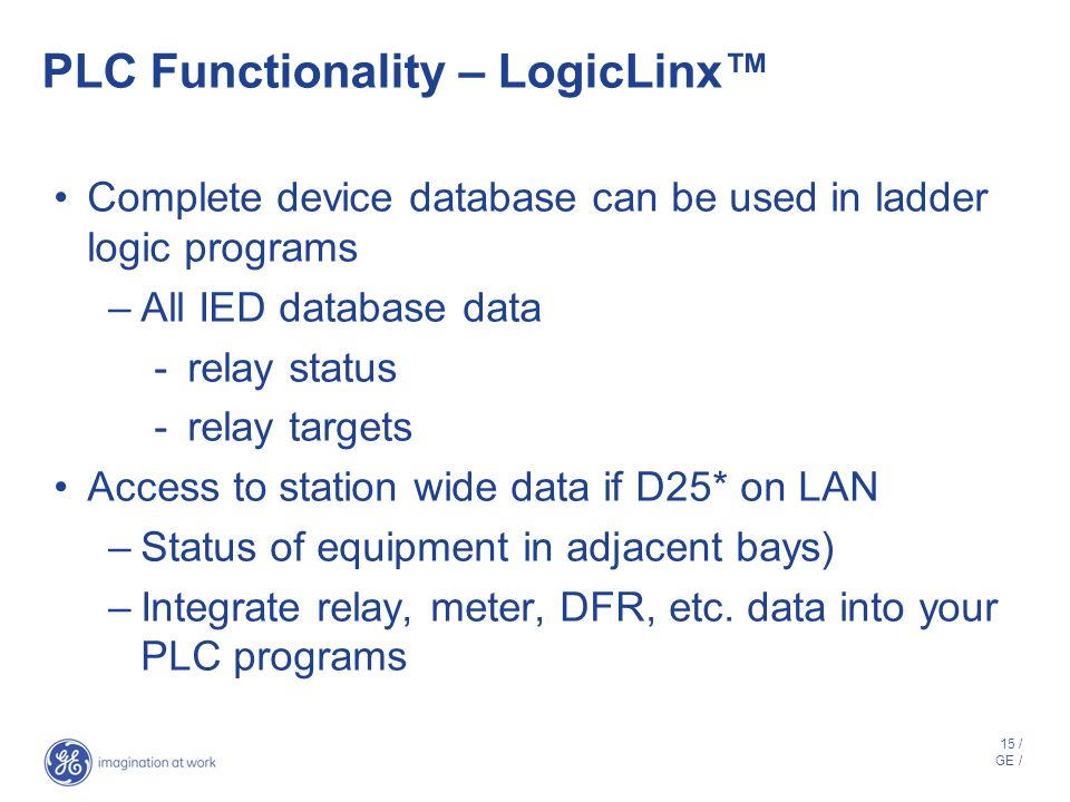 PLC Functionality – LogicLinx™