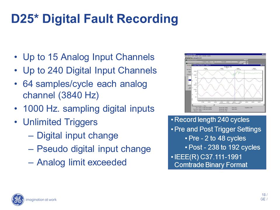 D25* Digital Fault Recording