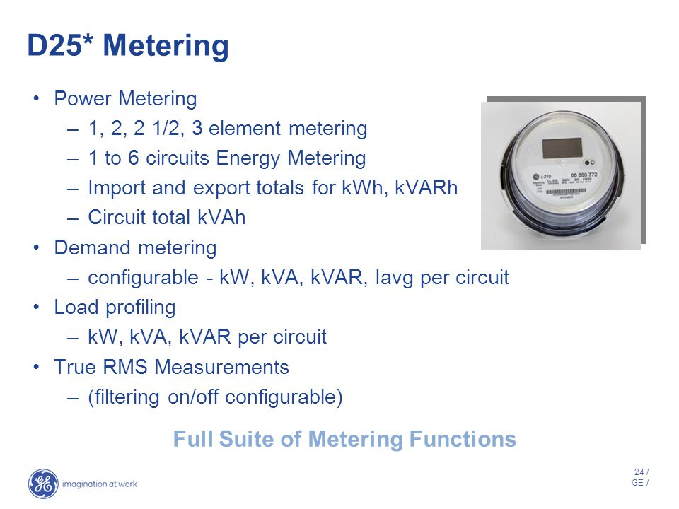 Full Suite of Metering Functions
