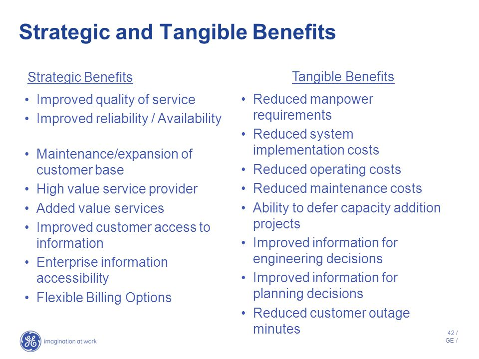 Strategic and Tangible Benefits