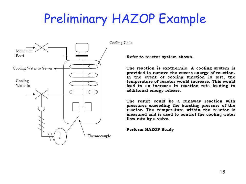 Preliminary HAZOP on Reactor