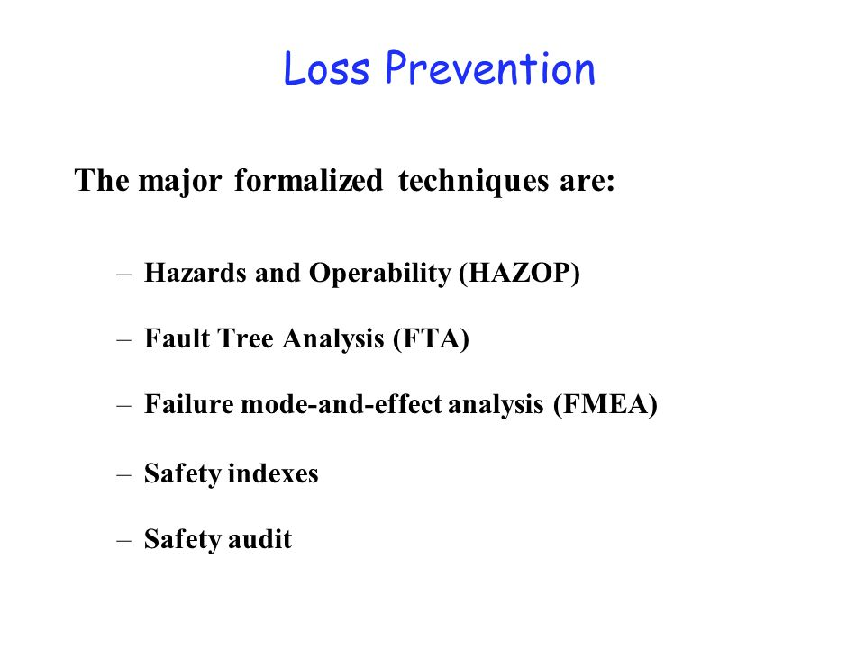 What is HAZOP Systematic technique to IDENTIFY potential HAZard and OPerating problems.