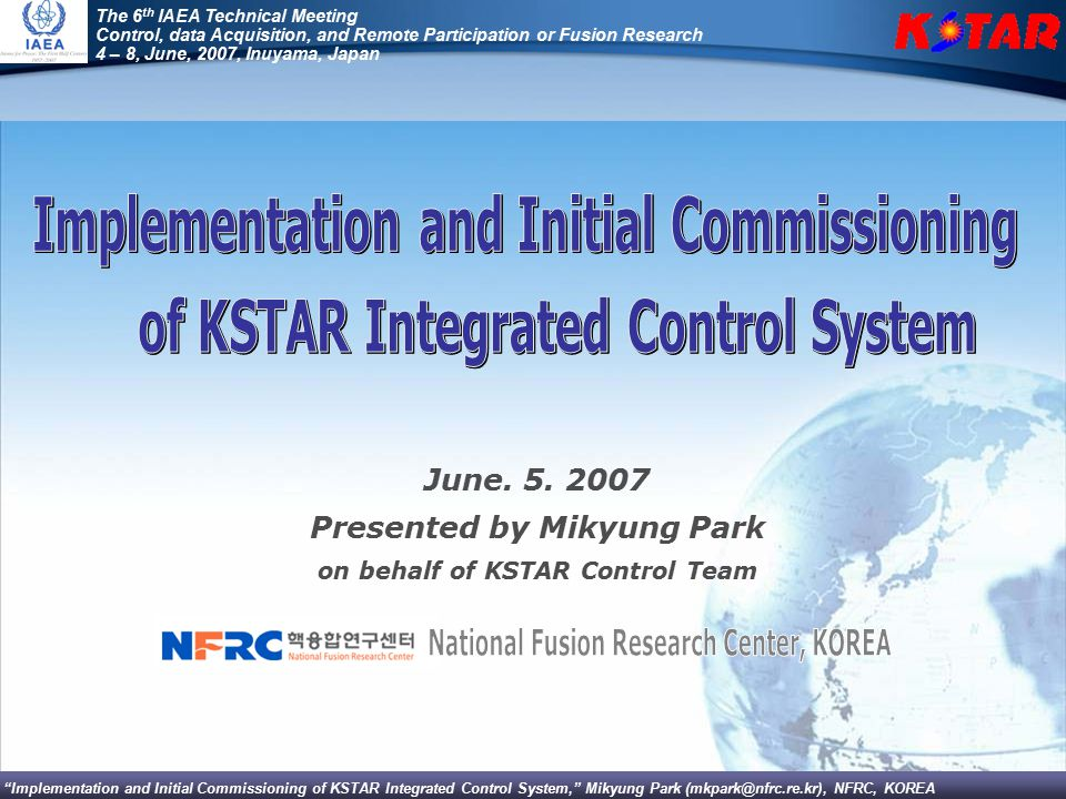 National Fusion Research Center, KOREA