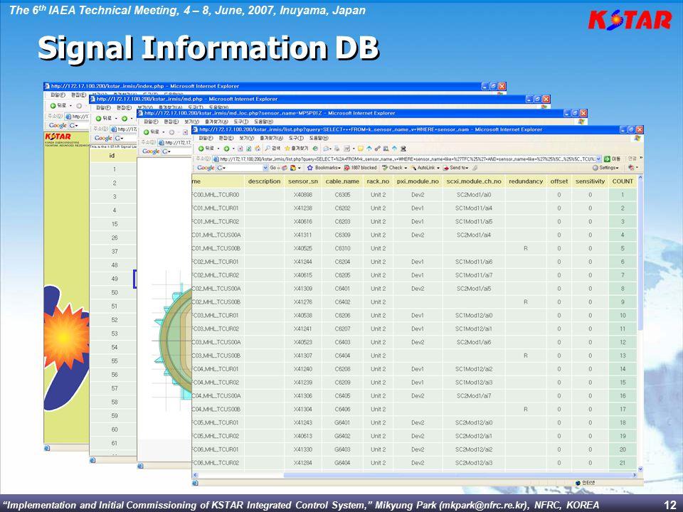Signal Information DB