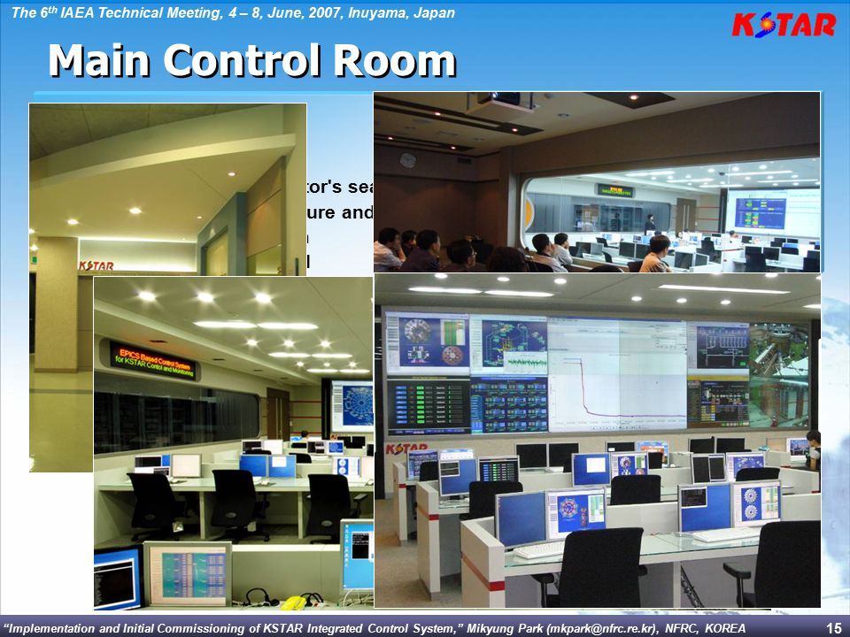 Main Control Room  In Equipment room  Features