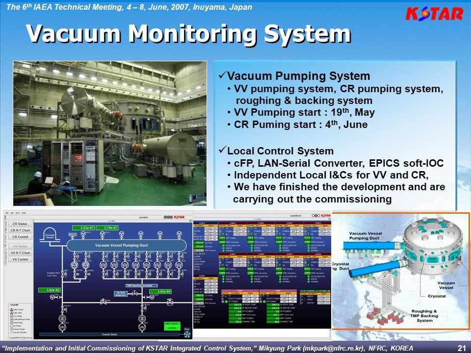 Vacuum Monitoring System