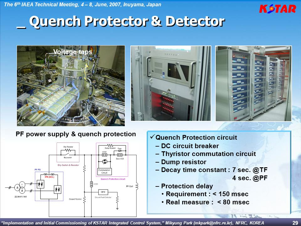 PF power supply & quench protection