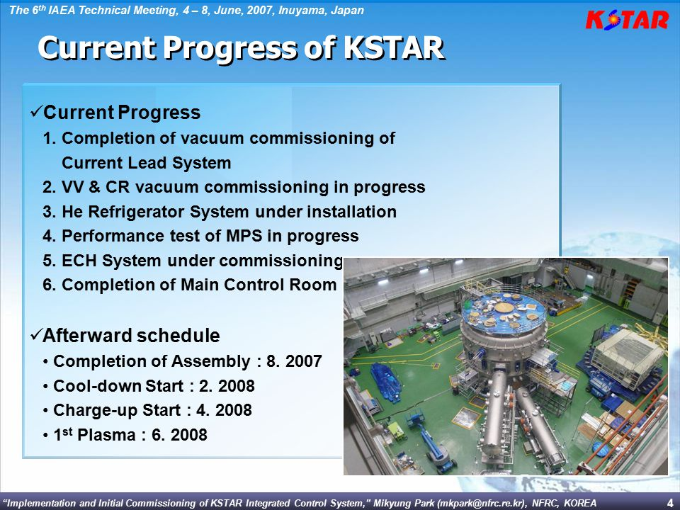 Current Progress of KSTAR