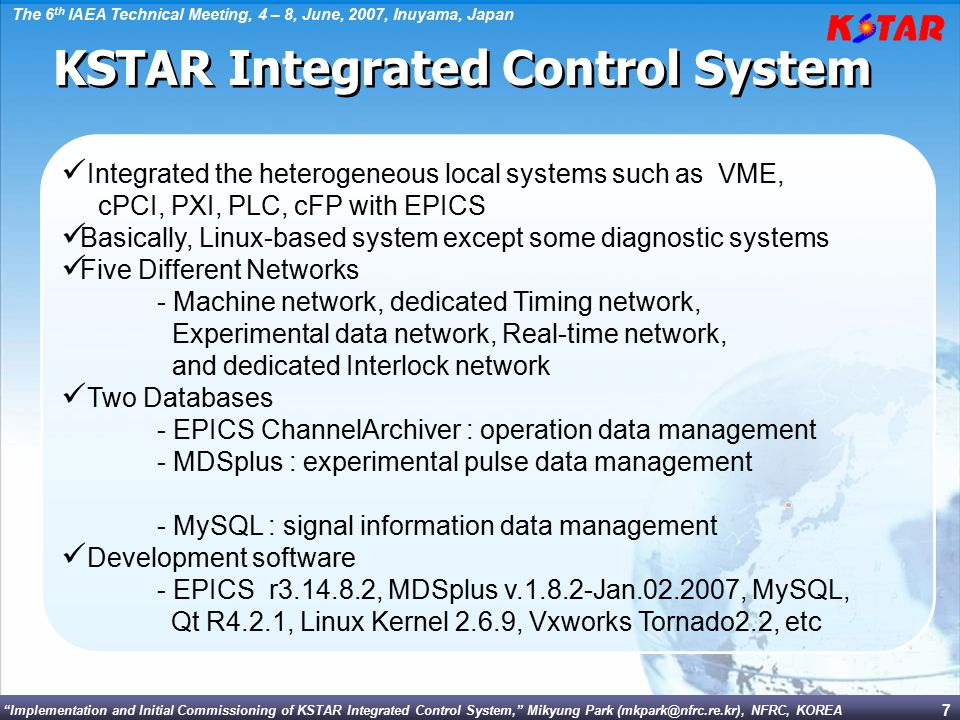 KSTAR Integrated Control System