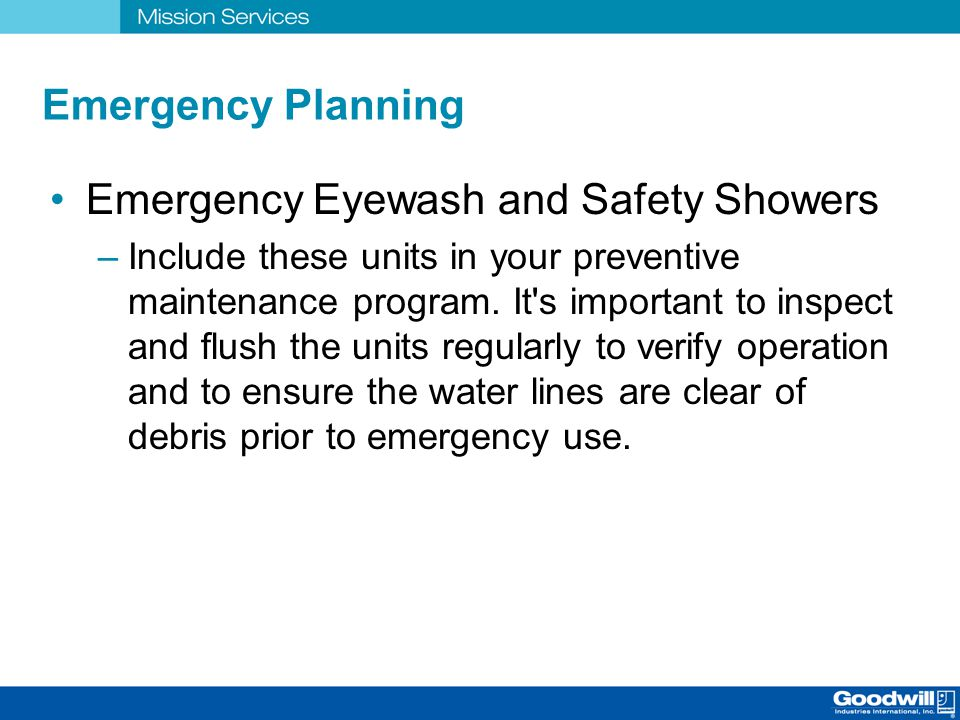 Emergency Eyewash and Safety Showers
