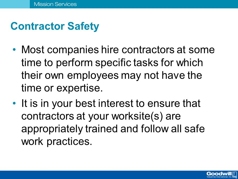 Contractor Safety