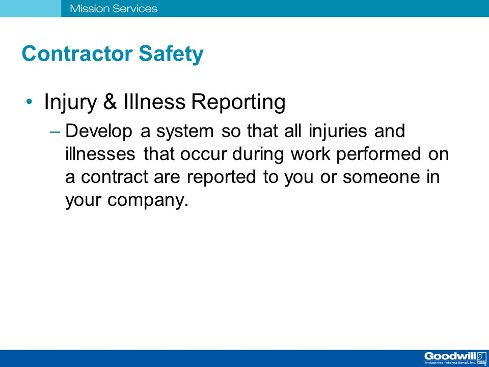 Injury & Illness Reporting