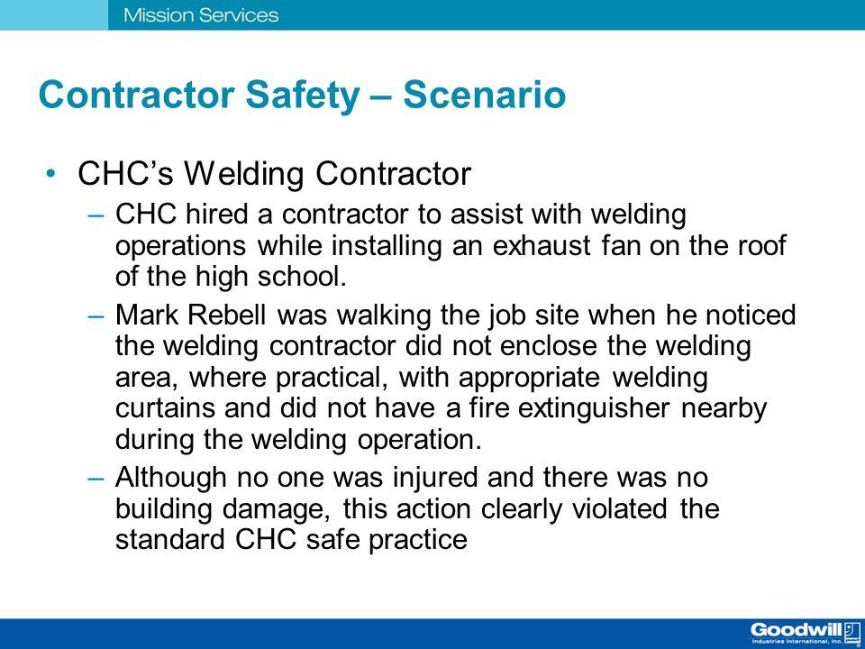 Contractor Safety – Scenario