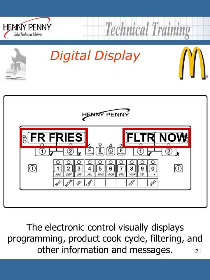 Digital Display FLTR NOW FR FRIES