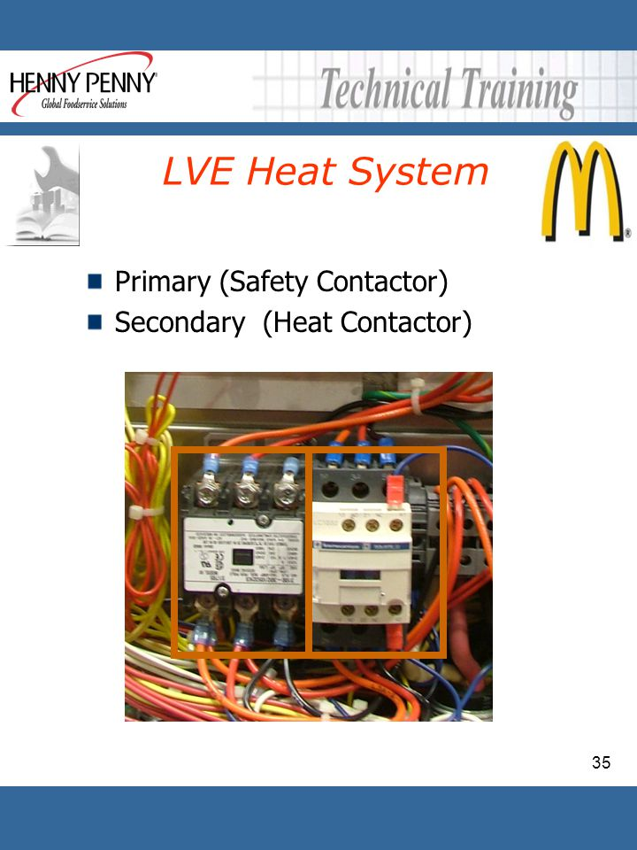 LVE Heat System Primary (Safety Contactor) Secondary (Heat Contactor)