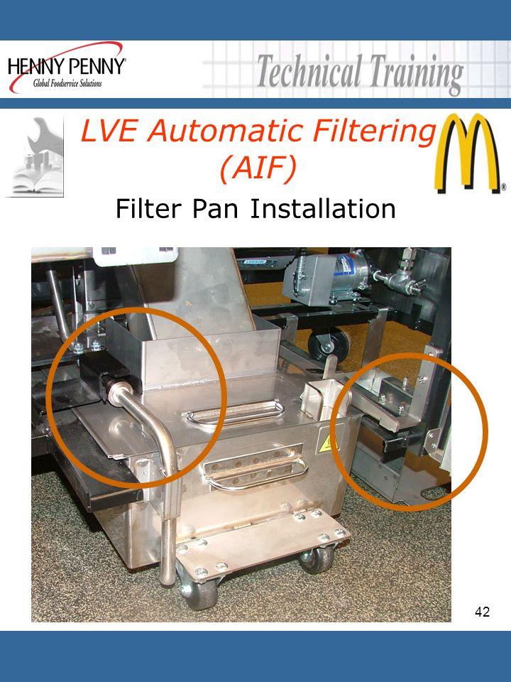 Filter Pan Installation