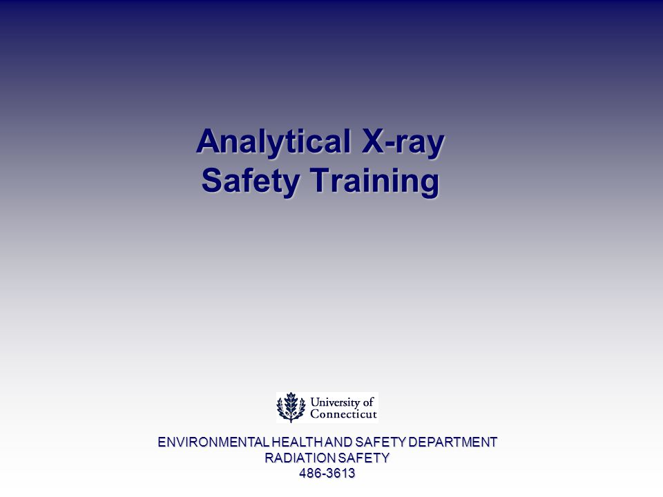 Analytical X-ray Safety Training