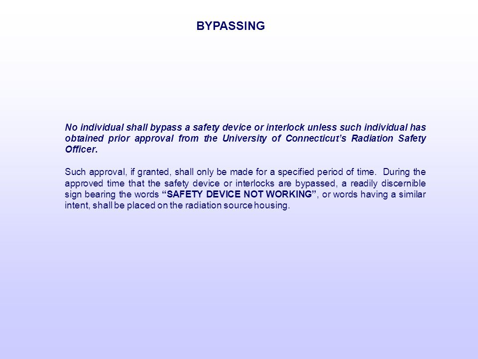 BYPASSING